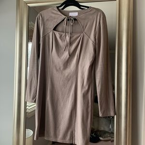 Kendall & Kylie Suede Taupe Dress WORN TWICE